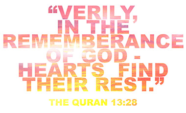 Verily in the remembrance of God, do hearts find rest